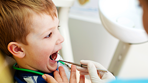 Little Boy Needing Sealants | Child's Preventative Care